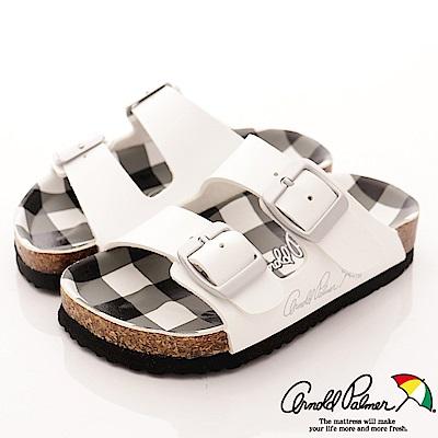 雨傘牌 休閒皮質涼鞋款 EI84709 白 (中小童段)