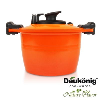 Deukonig-德京節能真空壓力美味快鍋-24cm高深鍋-橘色
