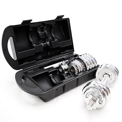 電鍍40磅電鍍組合啞鈴(含盒重)