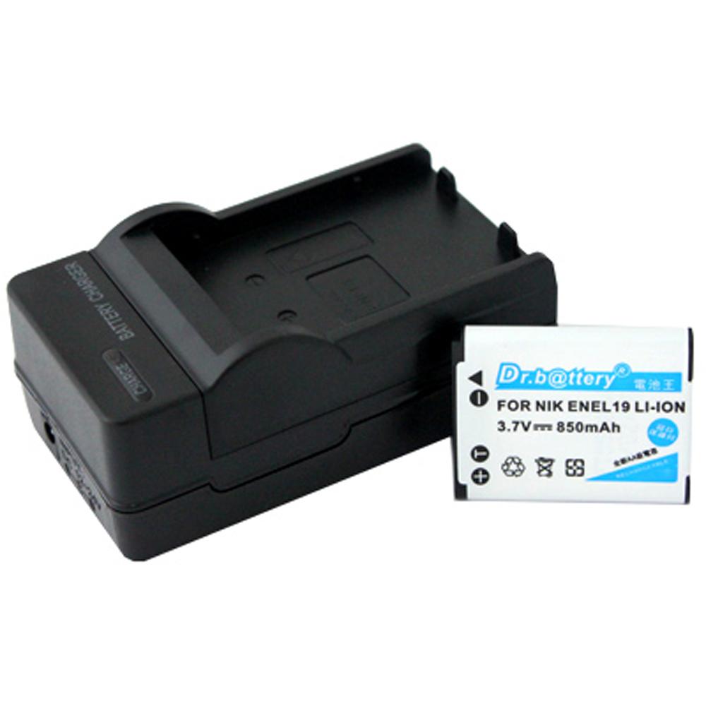 電池王 NIKON EN-EL19 高容量鋰電池+充電器組
