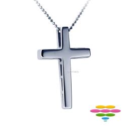 彩糖鑽工坊 十字架K金項鍊