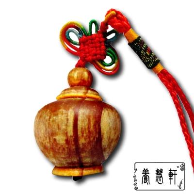 養慧軒 血龍木巧雕 招財迷你聚寶盆 吊飾掛飾