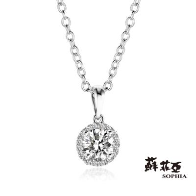 蘇菲亞SOPHIA  - 施華洛0.30克拉FVVS1鑽石項鍊