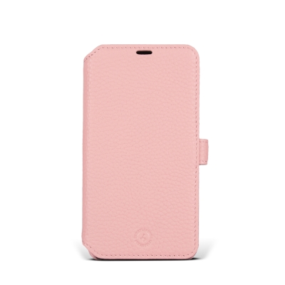 STORYLEATHER iPhone X 硬殼式側翻 荔枝紋蜜桃粉現貨皮套