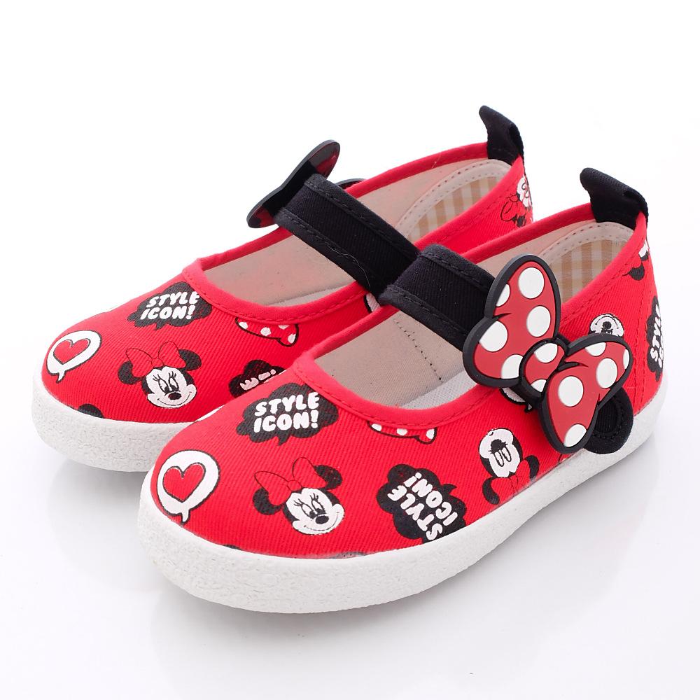 迪士尼童鞋-甜心米妮娃娃鞋款-FO64408紅中小童段HN