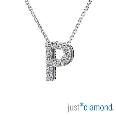 Just Diamond Love Words系列18K金鑽石墜子-P