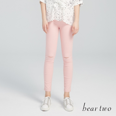 beartwo網路獨家-彈力激瘦刷破窄管褲(四色)-動態show