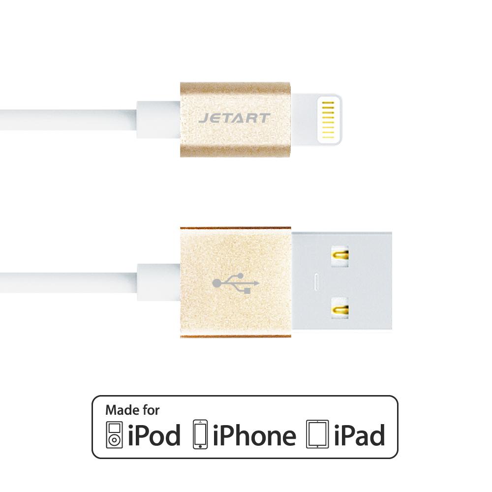 Jetart 耐拉拔 強化設計Lightning USB傳輸線 1.5m (CAA200)