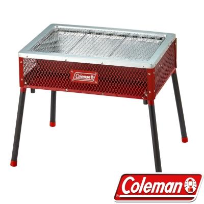 Coleman CM-21954 酷立架烤肉箱-紅 可調式烤肉箱/抽屜式炭盆