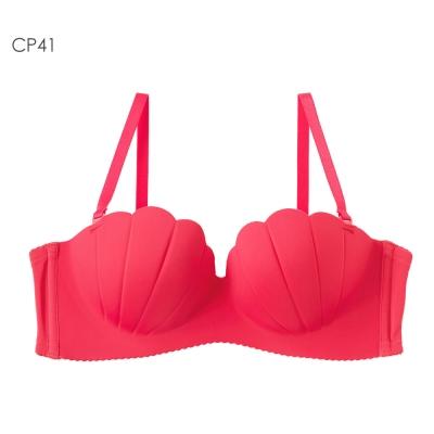 aimerfeel 貝殼1/2罩杯無鋼圈超盛內衣-櫻桃粉紅色
