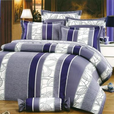 心靈契約-藍 台灣製雙人五件式純棉床罩組