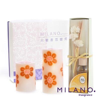 【MILANO 米蘭香氛蠟燭】粉彩春色香氛手工蠟燭禮盒(鵝蛋黃)