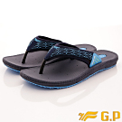 GP時尚涼拖-織帶透氣夾腳拖-GSE504M22藍(男段)
