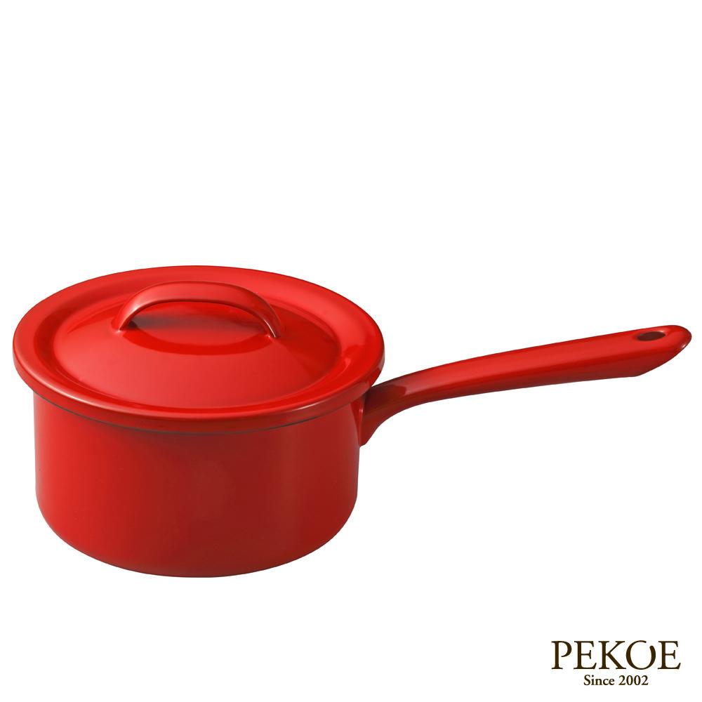 月兔印 琺瑯單手醬汁鍋16cm-紅