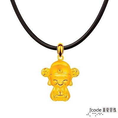 J'code真愛密碼 小萌佛-財神黃金墜子-立體硬金款 送項鍊