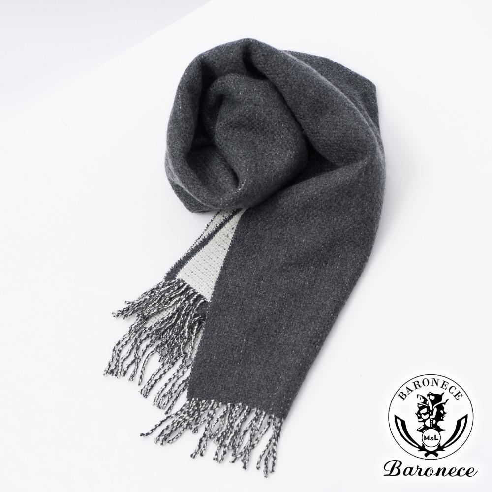BARONECE  品味質男保暖羊毛圍巾_灰白(610902-12)
