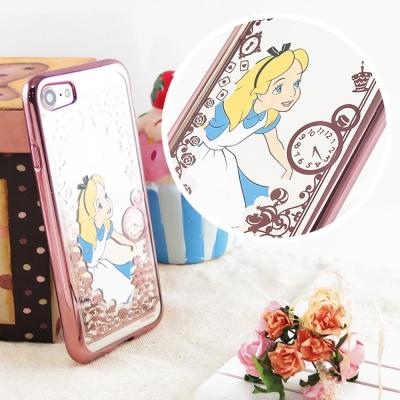 Disney迪士尼iPhone 7(4.7)電鍍彩繪保護套-公主系列-愛麗絲