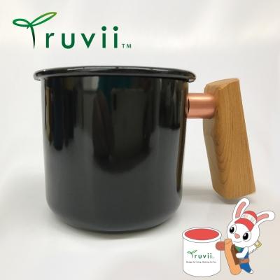 Truvii 經典黑檜木柄琺瑯杯 400ml