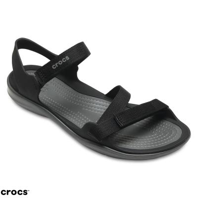 Crocs 卡駱馳 (女鞋) 激浪織帶涼鞋 204804-001