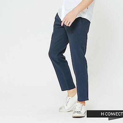 H:CONNECT 韓國品牌 男裝-純色質感長褲-藍