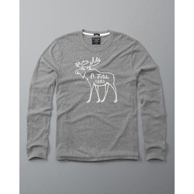 AF a&f Abercrombie & Fitch 長袖 T恤 灰色 155