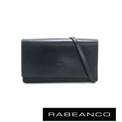 RABEANCO 迷時尚系列多夾層小方包 -消光黑