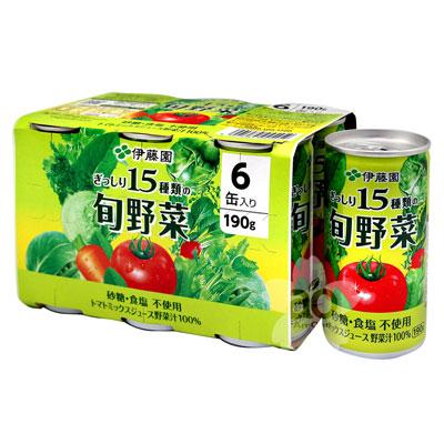 伊藤園 15種類旬野菜汁(190gx6罐)