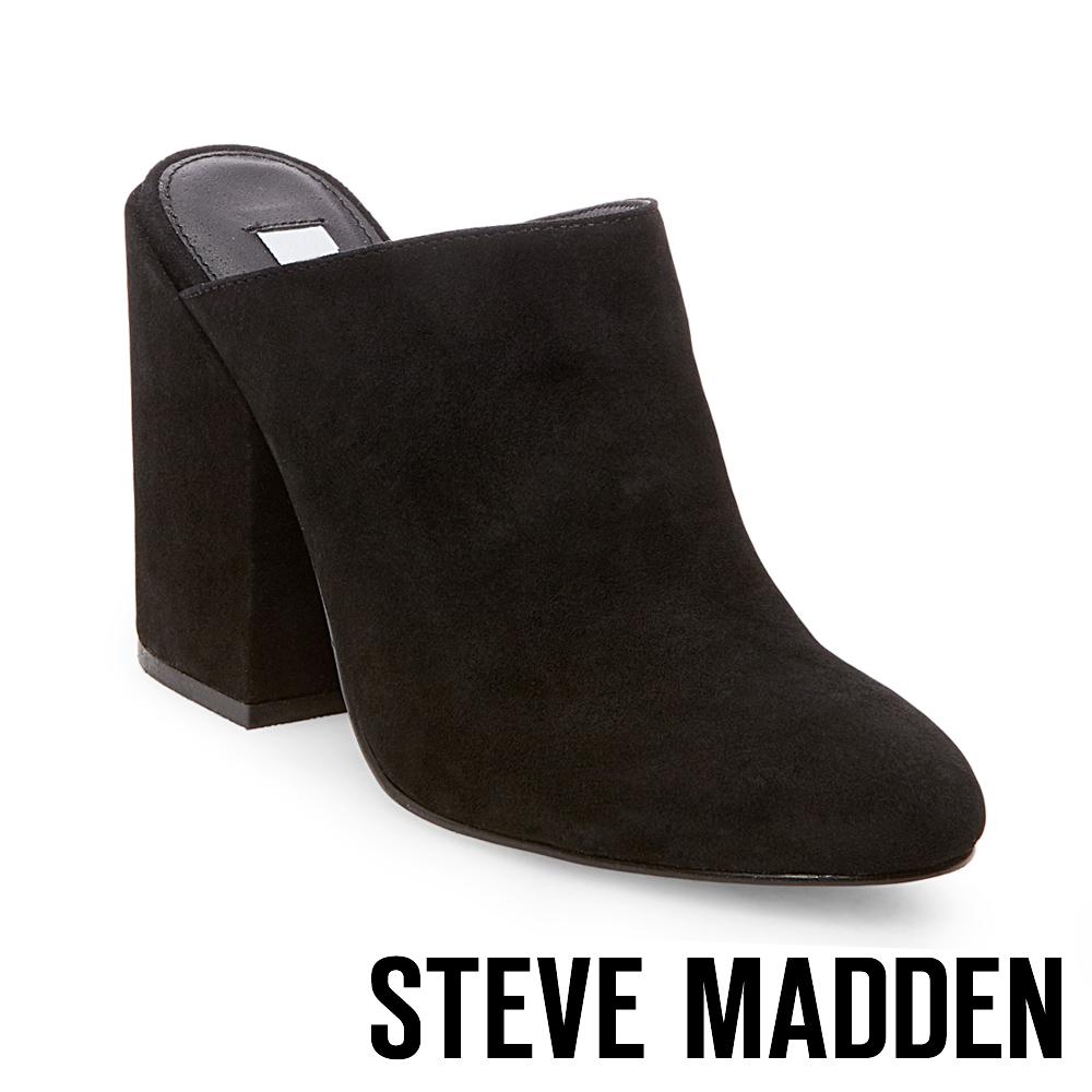 STEVE MADDEN-STELA-BLACK 高跟穆勒鞋-黑色
