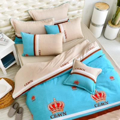 Grace Life 時尚皇家 精梳純棉雙人涼被床包四件組