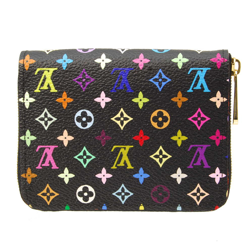 LV 【M93740】經典Monogram Multicolore拉鏈錢包