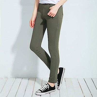 101原創 新彈力塑身口袋美型內搭褲-軍綠
