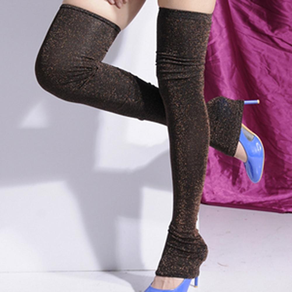 Aimee Toff 完美搭配炫亮造型大腿襪(黑)