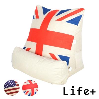 Life Plus 英倫美風立體舒壓靠枕/抱枕/腰靠枕 (英國國旗)