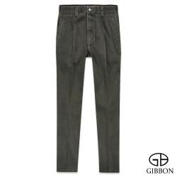 GIBBON 彈力斜紋打摺休閒褲‧橄欖綠30~42
