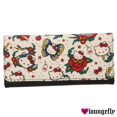 Loungefly- 凱蒂聯名款長夾-刺青凱蒂LFSANWA0812