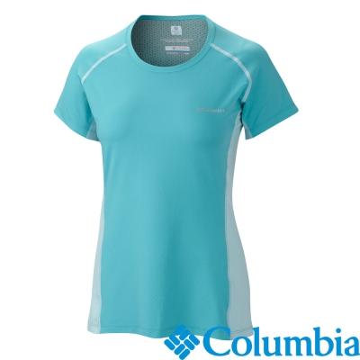 【美國Columbia哥倫比亞】酷涼防曬30快排短袖-女-綠(UAL65800GR)