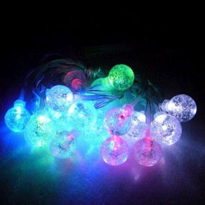聖誕燈LED20燈彩光小透明氣泡球電池燈(高亮度又環保)