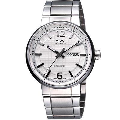 MIDO Great Wall 天文台認證長城系列機械腕錶-白/42mm