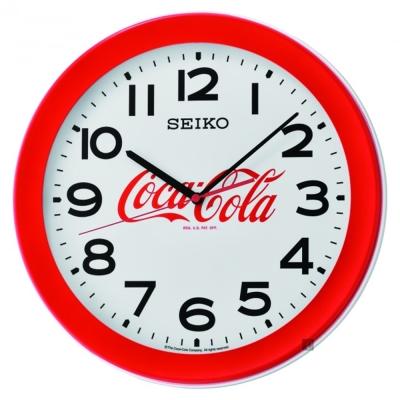 SEIKO精工 Coca-Cola 可口可樂聯名掛鐘(QXA922R)-36.8cm