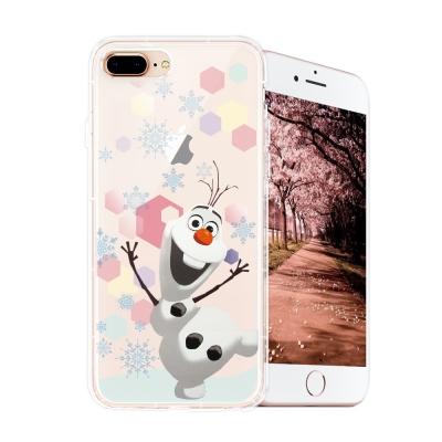 冰雪奇緣展場限定版 iPhone 8 plus/7 plus空壓殼(彩色雪花雪寶...