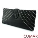 CUMAR 水波車線長皮夾-黑色
