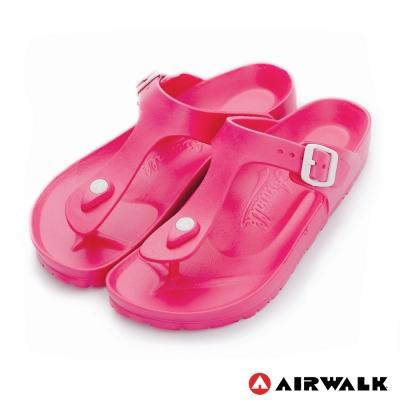 美國AIRWALK百搭羅馬夾腳拖鞋-桃紅色