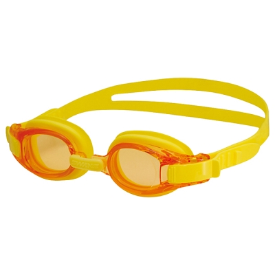 【SWANS 日本】專業光學兒童專用泳鏡 ( 防霧/抗UV/矽膠 SJ-8 黃)