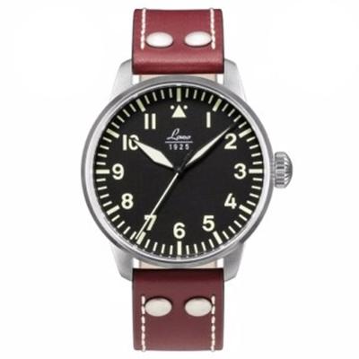 Laco朗坤 Augsburg 夜光飛行機械腕錶-黑/42mm 861688