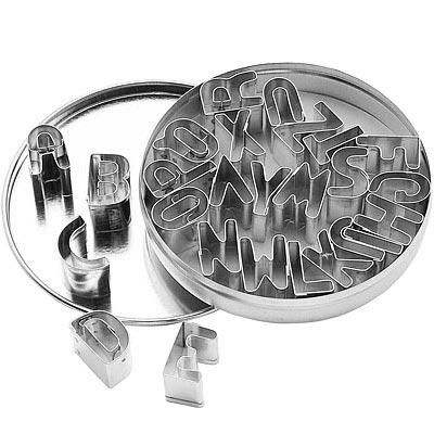 KitchenCraft 錫罐餅乾切模26件(字母)