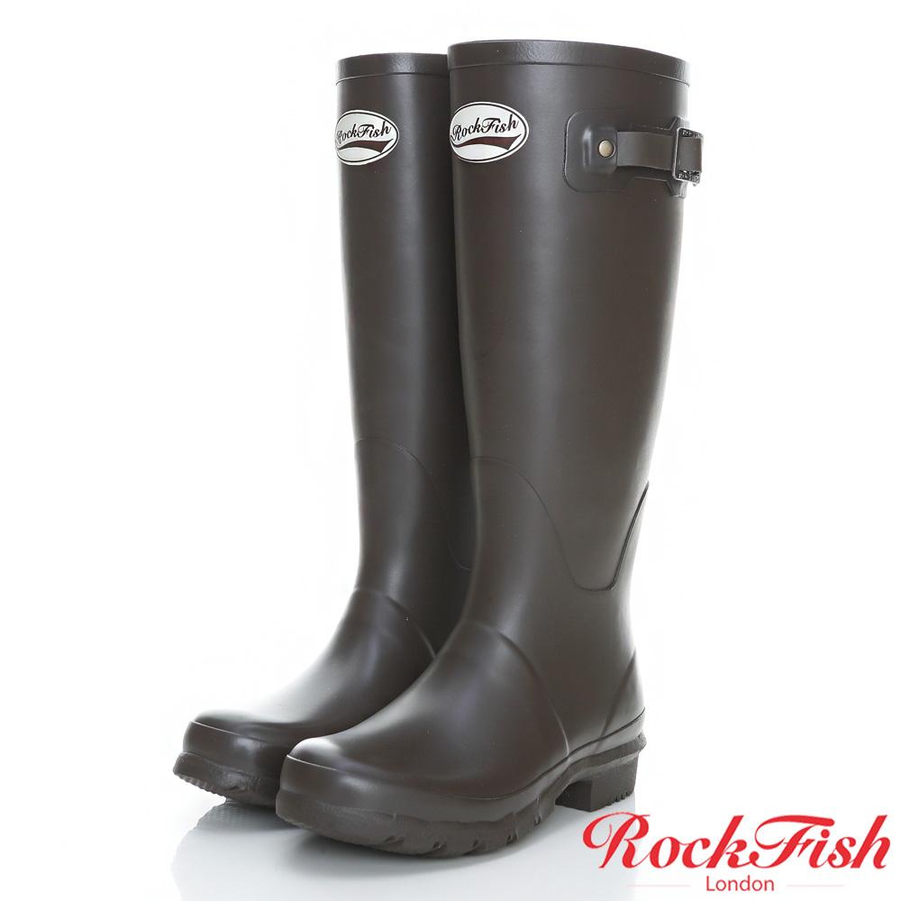 ROCKFISH 質感霧面長筒雨靴 酷色系列 摩卡咖