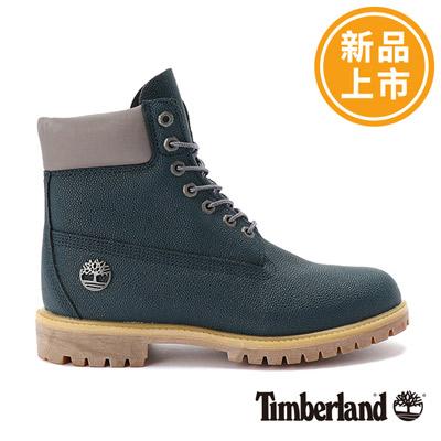 Timberland-男款深藍色防水保暖6吋靴