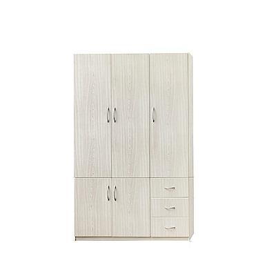 品家居 瑪丹4.2尺環保塑鋼五門衣櫃(四色)-125x62.5x198cm-免組