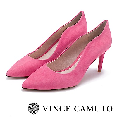 Vince Camuto 曲線素面性感高跟鞋-粉色