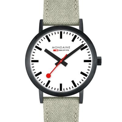MONDAINE 瑞士國鐵Classic 限量腕錶-白x鍍黑/40mm
